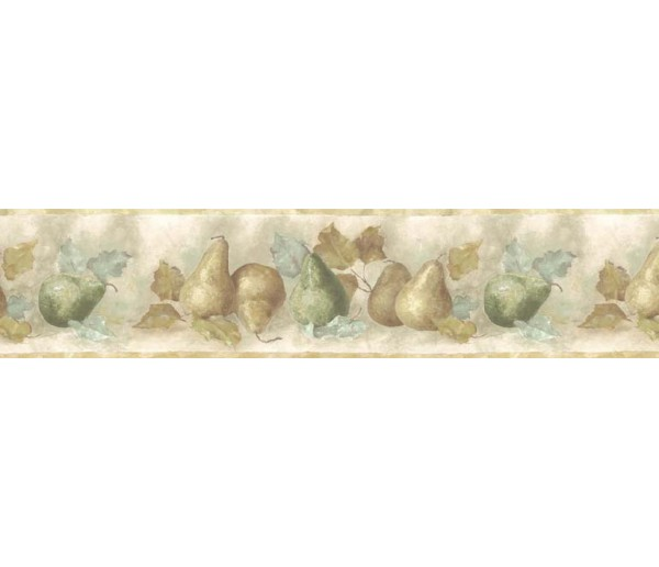 Clearance: Pear Fruits Wallpaper Border B75879