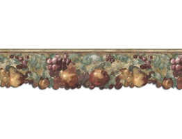 9 in x 15 ft Prepasted Wallpaper Borders - Fruits Wall Paper Border B75881DC