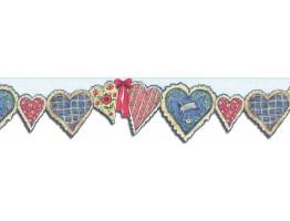 Prepasted Wallpaper Borders - Hearts Wall Paper Border SU75902DC