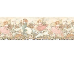 9 5/8 in x 15 ft Prepasted Wallpaper Borders - Horses Wall Paper Border SU75905DC