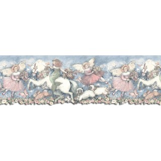 9 5/8 in x 15 ft Prepasted Wallpaper Borders - Horses Wall Paper Border SU75906DC