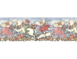 9 5/8 in x 15 ft Prepasted Wallpaper Borders - Horses Wall Paper Border SU75907DC