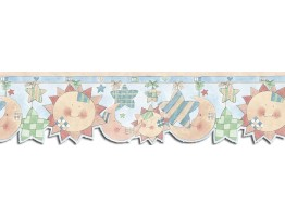Prepasted Wallpaper Borders - Sun Moon and Stars Wall Paper Border SU75909DC