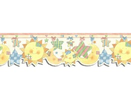 Prepasted Wallpaper Borders - Sun Moon and Stars Wall Paper Border SU75911DC