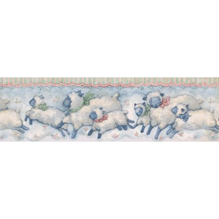 7 in x 15 ft Prepasted Wallpaper Borders - Animals Wall Paper Border SU75912DC