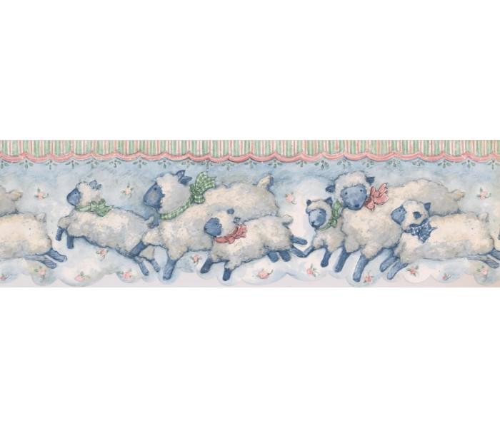 Nursery Wallpaper Borders: Animals Wallpaper Border SU75912DC