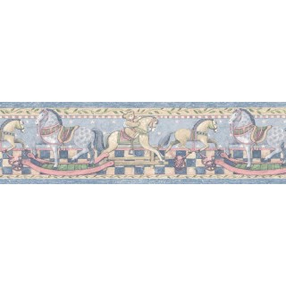 9 in x 15 ft Prepasted Wallpaper Borders - Animals Wall Paper Border SU75916