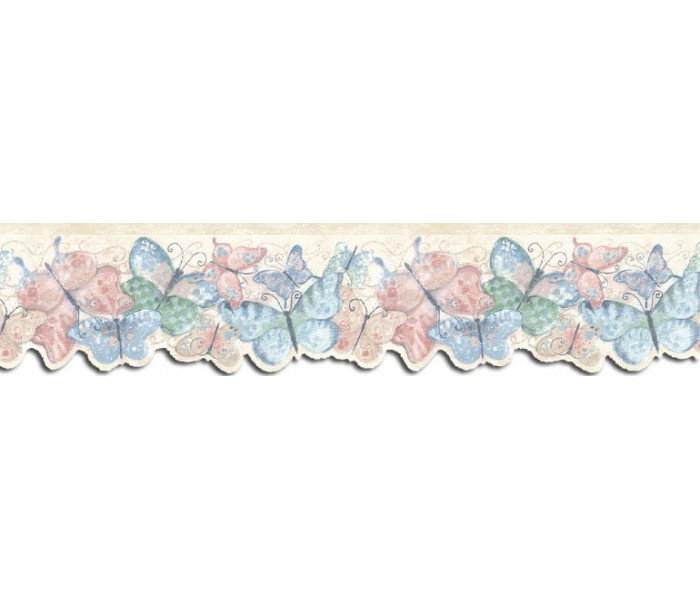 Country Wallpaper Borders: Butterfly Wallpaper Border SU75928DC