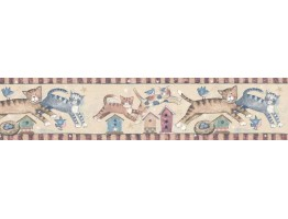 Prepasted Wallpaper Borders - Cats Wall Paper Border SU75933