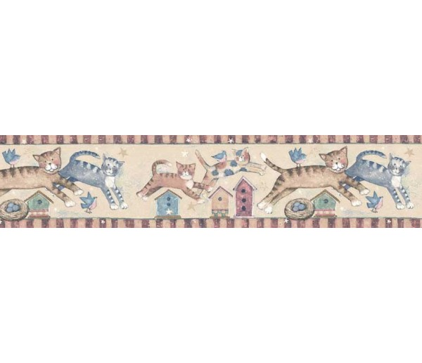 Clearance: Cats Wallpaper Border SU75933