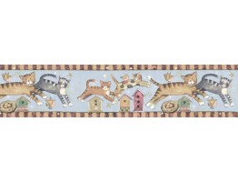 7 in x 15 ft Prepasted Wallpaper Borders - Cats Wall Paper Border SU75934