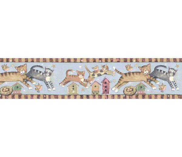 Clearance: Cats Wallpaper Border SU75934