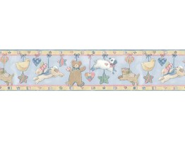 7 in x 15 ft Prepasted Wallpaper Borders - Animals Wall Paper Border SU75935