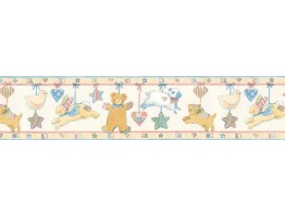 7 in x 15 ft Prepasted Wallpaper Borders - Animals Wall Paper Border SU75936