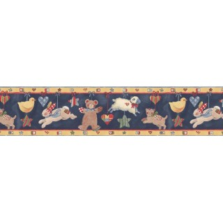 7 in x 15 ft Prepasted Wallpaper Borders - Animals Wall Paper Border SU75937