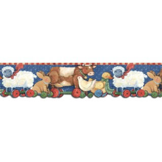 6 3/4 in x 15 ft Prepasted Wallpaper Borders - Animals Wall Paper Border SU75938DC