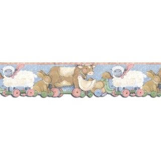 6 3/4 in x 15 ft Prepasted Wallpaper Borders - Animals Wall Paper Border SU75939DC
