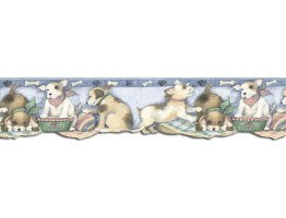 Prepasted Wallpaper Borders - Dogs Wall Paper Border SU75943DC