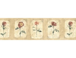 Prepasted Wallpaper Borders - Floral Wall Paper Border ED76252