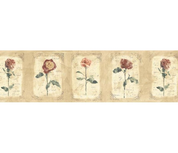 Floral Wallpaper Borders: Floral Wallpaper Border ED76252