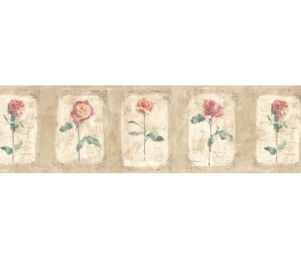 Floral Wallpaper Borders: Floral Wallpaper Border ED76253