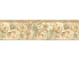 8 in x 15 ft Prepasted Wallpaper Borders - Floral Wall Paper Border ED76257