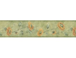 Prepasted Wallpaper Borders - Sunflowers Wall Paper Border ED76264