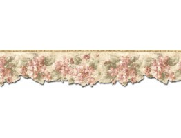 Prepasted Wallpaper Borders - Floral Wall Paper Border ED76267DC
