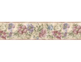 Prepasted Wallpaper Borders - Floral Wall Paper Border ED76272