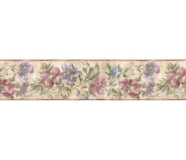Floral Borders Floral Wallpaper Border ED76272 S.A.MAXWELL CO.