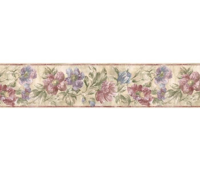 Floral Wallpaper Borders: Floral Wallpaper Border ED76272