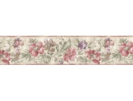7 in x 15 ft Prepasted Wallpaper Borders - Floral Wall Paper Border ED76273