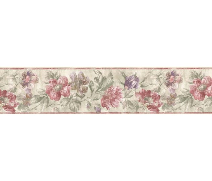 Clearance: Floral Wallpaper Border ED76273