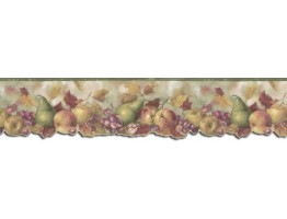 Prepasted Wallpaper Borders - Fruits Wall Paper Border B76301