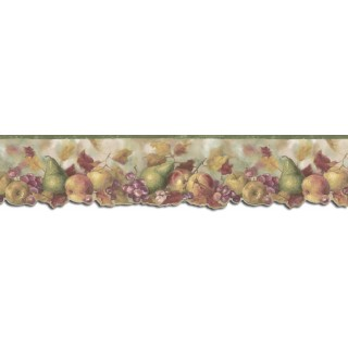 7 in x 15 ft Prepasted Wallpaper Borders - Fruits Wall Paper Border B76301