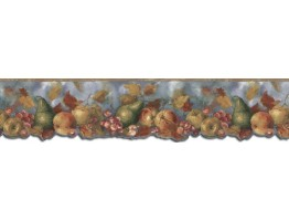 Prepasted Wallpaper Borders - Fruits Wall Paper Border B76302