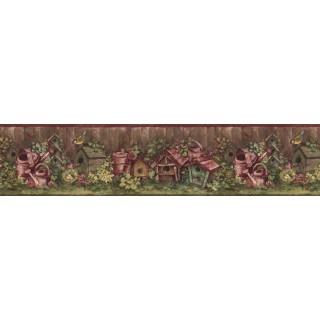 7 in x 15 ft Prepasted Wallpaper Borders - Birds House Wall Paper Border BG76309