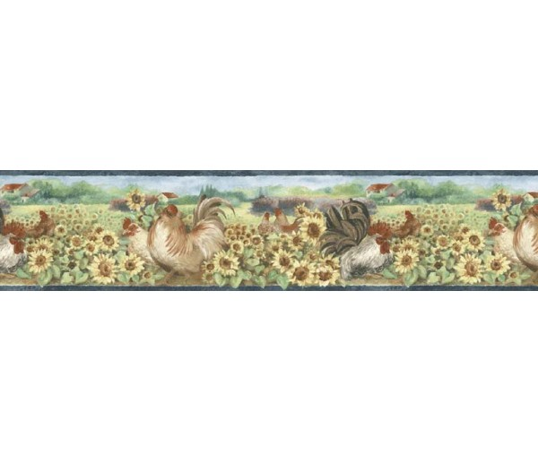 Roosters Wallpaper Borders: Roosters Wallpaper Border B76314