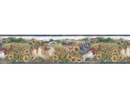 Prepasted Wallpaper Borders - Roosters Wall Paper Border BG76316