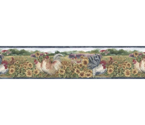 Clearance: Roosters Wallpaper Border BG76316