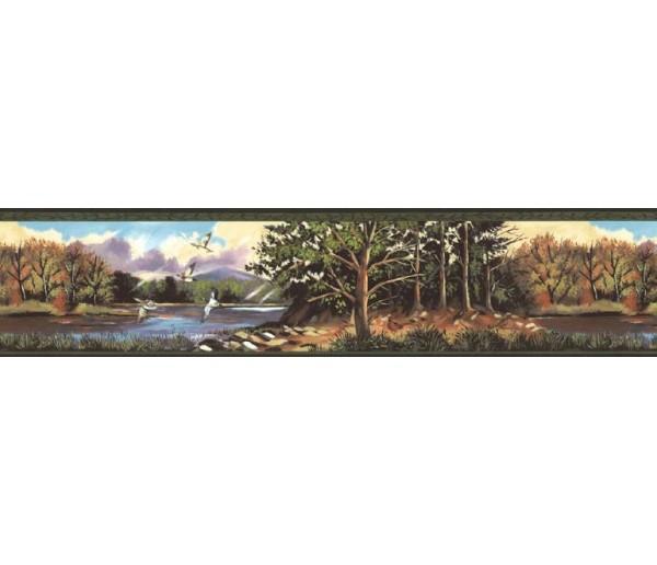 Landscape Wallpaper Borders: Birds Wallpaper Border B76319