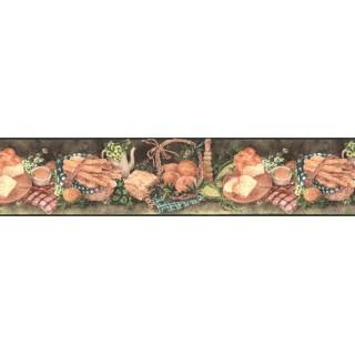 7 in x 15 ft Prepasted Wallpaper Borders - Kitchen Wall Paper Border BG76326