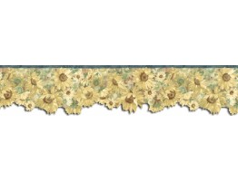 Prepasted Wallpaper Borders - Sunflowers Wall Paper Border B76333