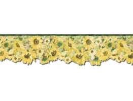 Prepasted Wallpaper Borders - Sunflowers Wall Paper Border BG76335DC
