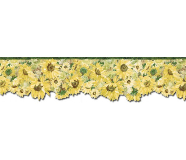 Sunflower Wallpaper Borders: Sunflowers Wallpaper Border BG76335DC