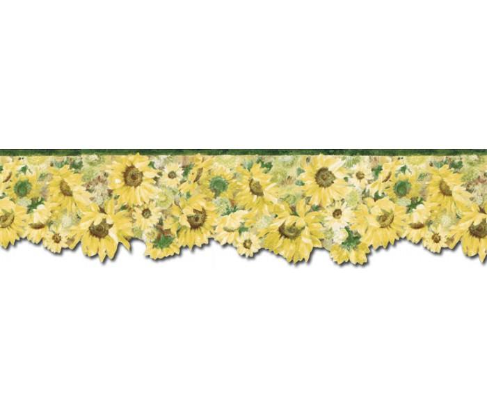 Sunflower Wallpaper Borders: Sunflowers Wallpaper Border BG76335DC