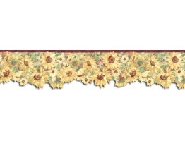 Prepasted Wallpaper Borders - Sunflowers Wall Paper Border BG76336DC