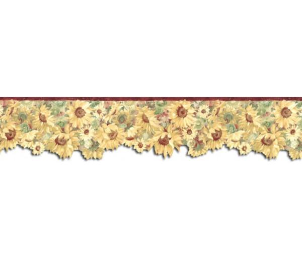 Sunflower Wallpaper Borders: Sunflowers Wallpaper Border BG76336DC