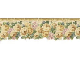 Prepasted Wallpaper Borders - Roses Wall Paper Border B76340