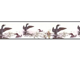 Prepasted Wallpaper Borders - Birds Wall Paper Border B76345